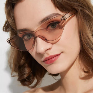 Frameless cat eye glasses - 9 colours