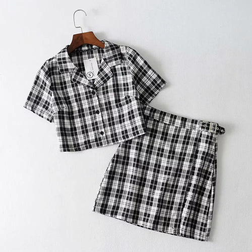 'Clueless' plaid set - 6 colours