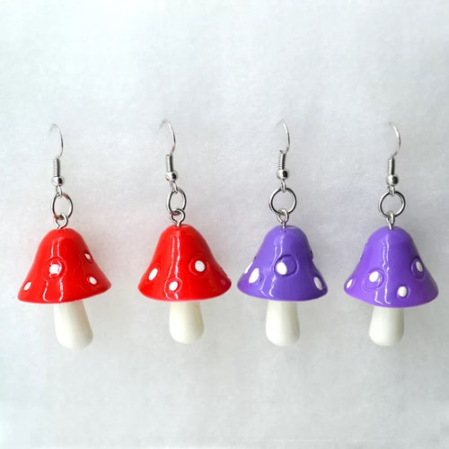 Mushroom earrings - 5 colours