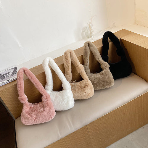 Fluffy Handbag - 5 Colours