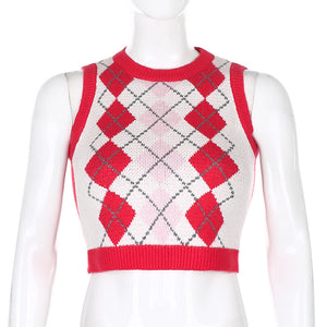'Piper' Knitted Crop Vest