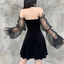 Load image into Gallery viewer, 'Luna' Velour Dress With Choker