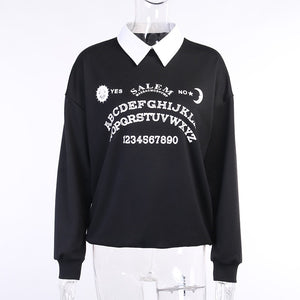 Ouija Collar Sweatshirt