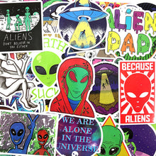 Load image into Gallery viewer, Alien stickers - 50 pieces