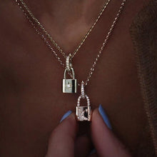 Load image into Gallery viewer, Star & Moon Lock Necklace Set