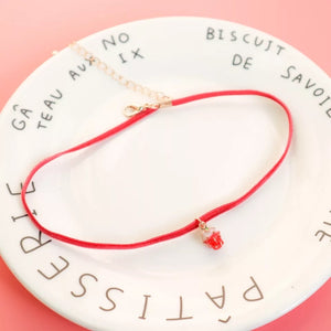 Strawberry choker - 2 styles