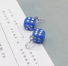 Load image into Gallery viewer, Dice earrings - 14 colours