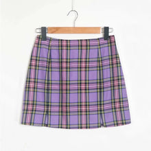 Load image into Gallery viewer, 'Charlie' plaid skirt - red & purple