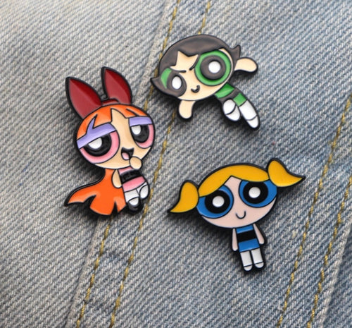 Powerpuff girls pins - 3 colours