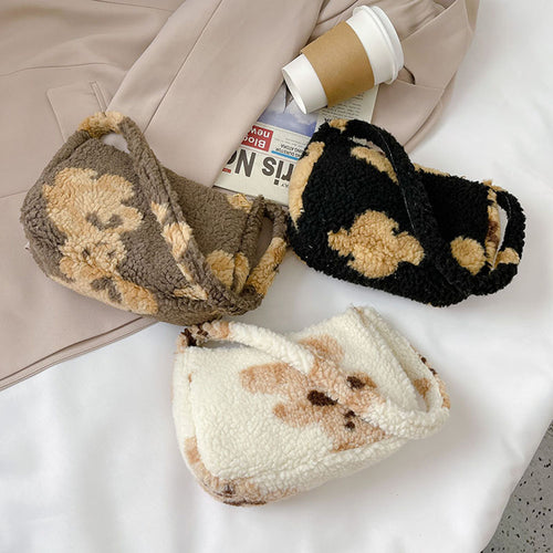 Teddy Bear Baguette Bag - 3 Colours