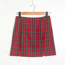 Load image into Gallery viewer, 'Charlie' red plaid skirt
