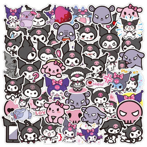 Kuromi stickers - 50 pieces