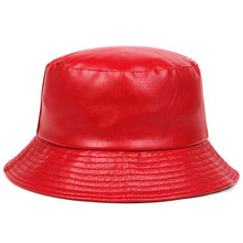 Load image into Gallery viewer, Pleather Bucket Hat - 5 Colours