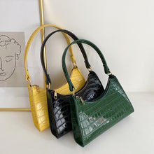 Load image into Gallery viewer, Faux Alligator Baguette Bag - 5 Colours