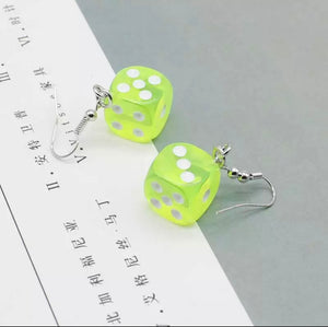 Dice earrings - 14 colours