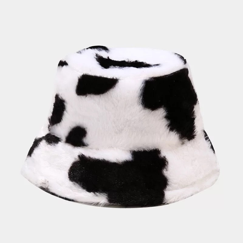 Fluffy Cow Bucket Hat - 4 Colours