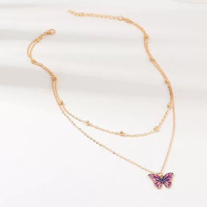 Butterfly necklace - 3 colours