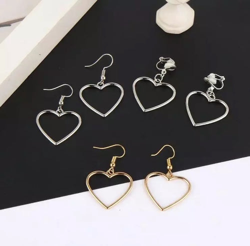 Basic heart earrings - 2 colours