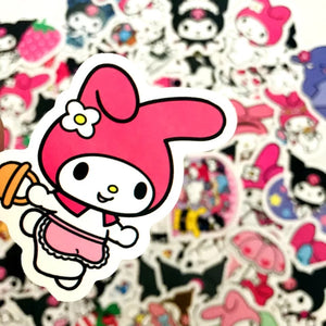 My Melody & Kuromi stickers - 50 pieces