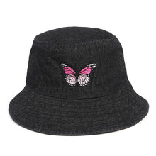 Load image into Gallery viewer, Denim Look Butterfly Hat - 4 Colours
