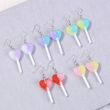 Load image into Gallery viewer, Heart Lollypop Earrings - 11 colours
