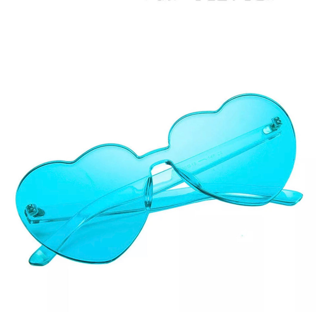Heart shaped glasses - 9 colours