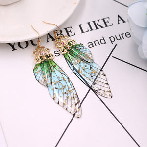 'Butterfly wings' earrings - 4 colours