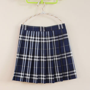 'Sophie' pleated plaid skirt - 10 colours