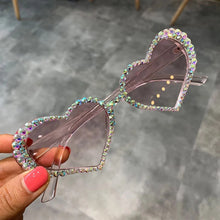 Load image into Gallery viewer, Heart shaped rhinestone sunglasses - 4 colours