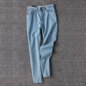 'Throwback' high waist denim mom jeans - dark wash & light wash