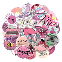 Load image into Gallery viewer, Pink theme stickers - 50 & 100 pieces