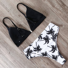 Load image into Gallery viewer, 'Palm tree' high waist bikini set - 4 colours