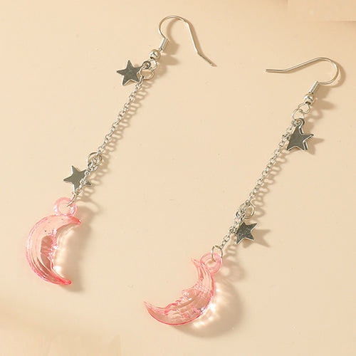 Dangly Moon & Stars Earrings