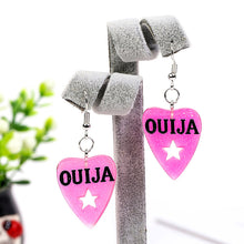 Load image into Gallery viewer, Glitter Ouija Planchette earrings - 6 colours