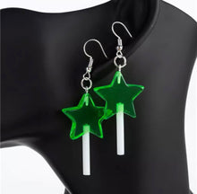 Load image into Gallery viewer, Star lollipop earrings - 6 colours