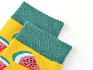 Fruity crew socks - 11 colours