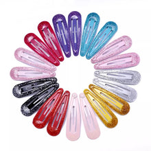 Load image into Gallery viewer, 20 pack of glitter hair clips