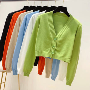 'Everly' knitted crop cardigan - 7 colours