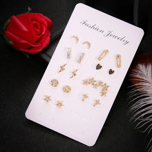Load image into Gallery viewer, 18 pack of earrings