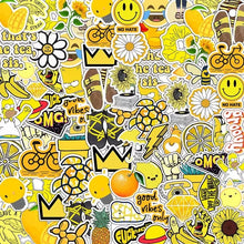 Load image into Gallery viewer, Yellow theme stickers - 50 pieces