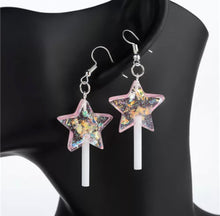 Load image into Gallery viewer, Glitter flake star lollipops - 4 colours