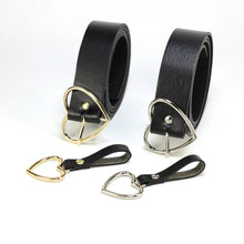 Load image into Gallery viewer, Double heart belt - silver & gold