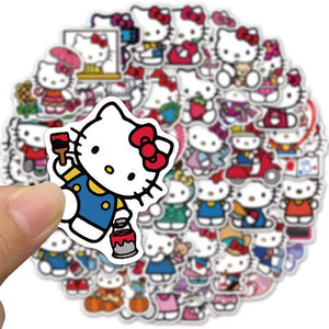 Hello Kitty stickers - 50 pieces