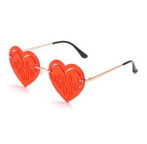 Fire Heart Glasses - 5 Colours