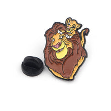 Load image into Gallery viewer, 'Mufasa & simba' enamel pin