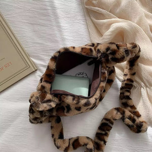 Leopard Print Shoulder Bag - 2 Colours