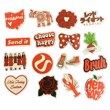 Load image into Gallery viewer, Red theme stickers - 50 pieces
