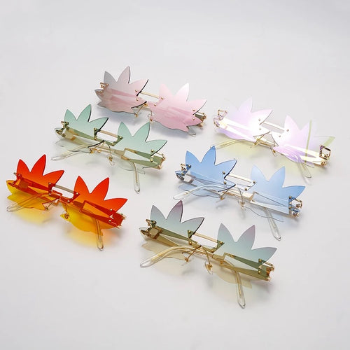 Leaf glasses - 6 colours