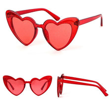 Load image into Gallery viewer, Heart shape glitter glasses - 8 colours