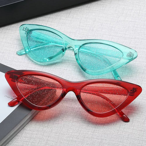 Glitter lens cat eye glasses- 7 colours